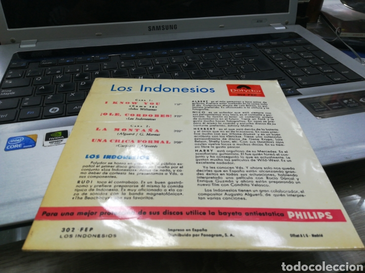 Discos de vinilo: Los Indonesios ep I know you + 3 1965 - Foto 2 - 165535541