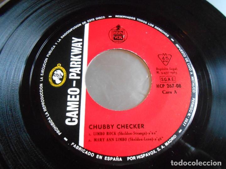 Discos de vinilo: CHUBBY CHECKER, EP, LIMBO ROCK + 3, AÑO 1963 - Foto 3 - 165581158