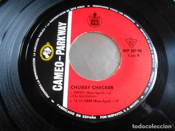 Discos de vinilo: CHUBBY CHECKER, EP, LIMBO ROCK + 3, AÑO 1963 - Foto 4 - 165581158