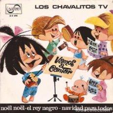 Discos de vinilo: EP LOS CHAVALITOS DE LA TELE VAMOS A CANTAR LA NAVIDAD ZAFIRO 698 VINILO MULTICOLOR. Lote 165600246