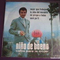 Dischi in vinile: NIÑO DE BAENA CANTA A LA MUJER EP VICTORIA 1967 MUJER QUE TRABAJAS/ MI PIROPO A TODAS +2 COPLA RUMBA. Lote 165601894
