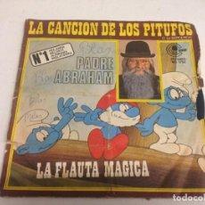 Discos de vinilo: PADRE ABRAHAM-- LA CANCIÓN DE LOS PITUFOS / LA FLAUTA MÁGICA . Lote 165605810