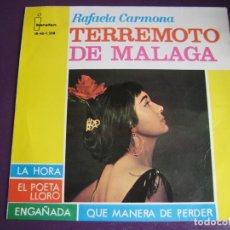 Discos de vinilo: TERREMOTO DE MALAGA EP IBEROFON 1964 LA HORA / EL POETA LLORO +2 RUMBAS GITANAS - RUMBA FLAMENCA . Lote 165606954