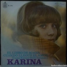 Discos de vinilo: KARINA // EL LIBRO DE LA MAGIA // 1967 SINGLE. Lote 165620466