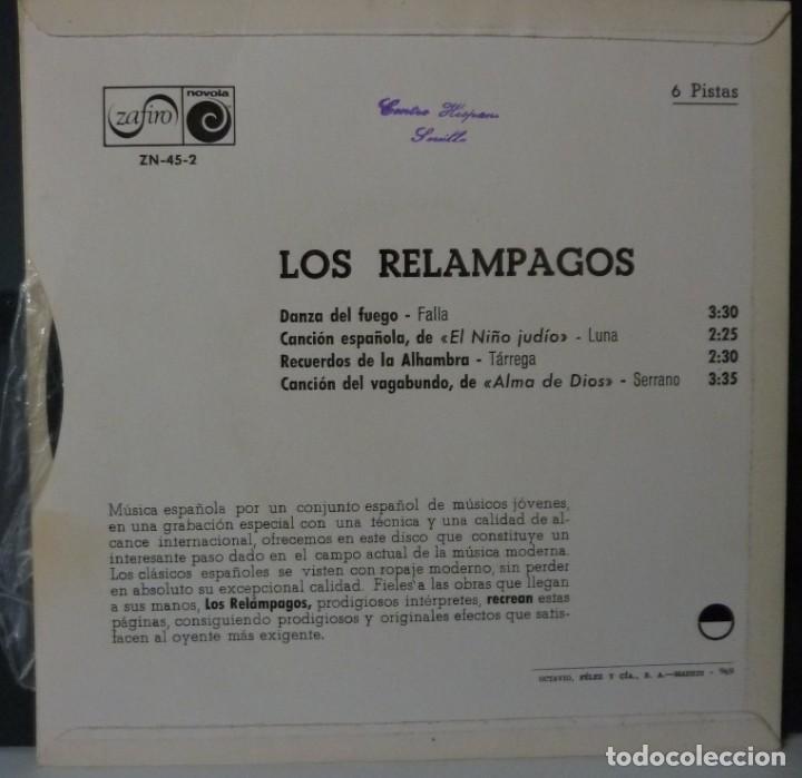 Discos de vinilo: LOS RELAMPAGOS // DANZA DEL FUEGO+3 // 1966 EP - Foto 2 - 165620746