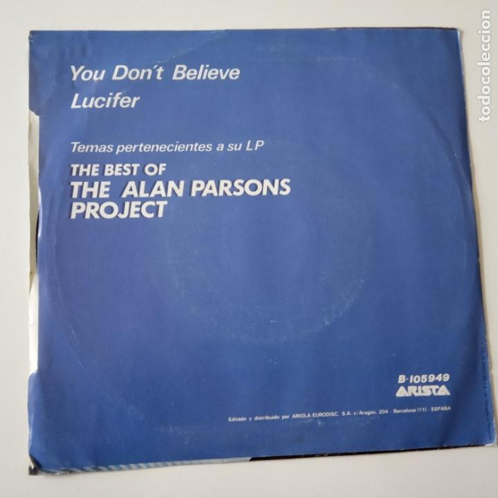 Discos de vinilo: THE ALAN PARSONS PROJECT- YOU DON´T BELIEVE - SPAIN PROMO SINGLE 1983-VINILO COMO NUEVO. - Foto 2 - 165627598