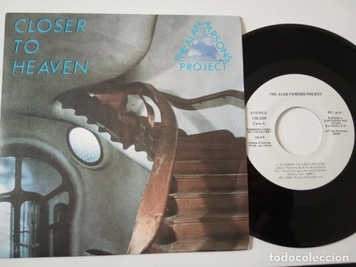 THE ALAN PARSONS PROJECT- CLOSER TO HEAVEN - SPAIN PROMO SINGLE 1987 - COMO NUEVO. (Música - Discos - Singles Vinilo - Electrónica, Avantgarde y Experimental)