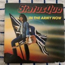 Discos de vinilo: STATUS QUO ?– IN THE ARMY NOW SELLO: VERTIGO ?– 888 056-7 FORMATO: VINYL, 7 , 45 RPM, SINGLE. Lote 178888437