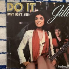 Discos de vinilo: GILLA ?– DO IT (WHY DON'T YOU) SELLO: DISC'AZ ?– SG. 586 FORMATO: VINYL, 7 , SINGLE, 45 RPM . Lote 165638546