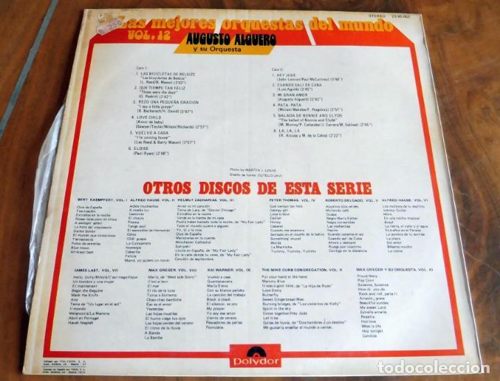 Discos de vinilo: DISCO - LP - POLYDOR - AUGUSTO ALGUERO Y SU ORQUESTA - Foto 2 - 165653510