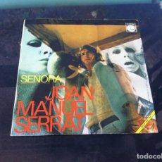 Discos de vinilo: SINGLE. JOAN MANUEL SERRAT. SEÑORA - FIESTA.. 1970. Lote 165658050