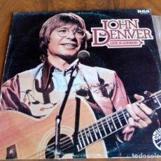 Discos de vinilo: DISCO - LP - RCA - JOHN DENVER - LIVE IN LONDON . Lote 165718550