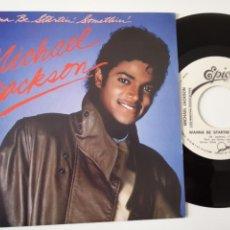 Discos de vinilo: MICHAEL JACKSON- WANNA BE STARTIN SOMETHIN´ - SPAIN PROMO SINGLE 1983- VINILO COMO NUEVO.. Lote 165725462