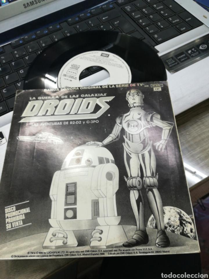 EWOKS / DROIDS SINGLE PROMOCIONAL B.S.O. ESPAÑA, 1986 (Música - Discos - Singles Vinilo - Bandas Sonoras y Actores)