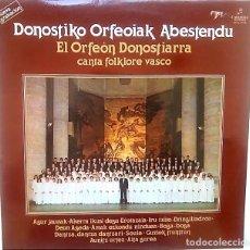 Discos de vinilo: LP DONOSTIKO ORFEOIAK ABESTENDU. AÑO 1979. Lote 165743254