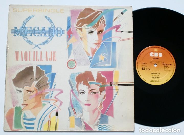 MECANO - MAQUILLAJE (CBS, 1982) SYNTH POP TECHNO MAXISINGLE - SUPERSINGLE (Música - Discos de Vinilo - Maxi Singles - Grupos Españoles de los 70 y 80)