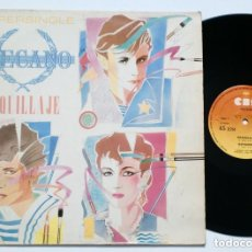 Discos de vinilo: MECANO - MAQUILLAJE (CBS, 1982) SYNTH POP TECHNO MAXISINGLE - SUPERSINGLE. Lote 165745126