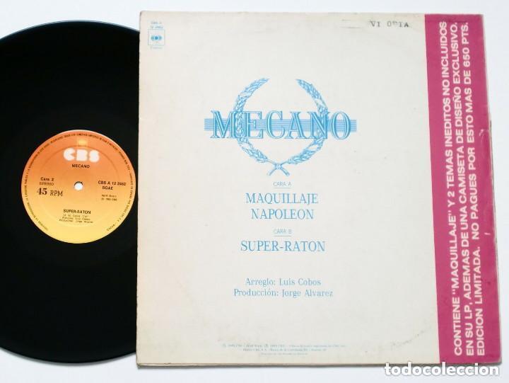 Discos de vinilo: MECANO - Maquillaje (CBS, 1982) Synth Pop Techno Maxisingle - Supersingle - Foto 2 - 165745126