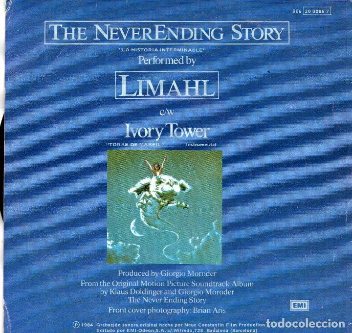 Discos de vinilo: SINGLE 1984 -LIMAHL - B.S.O. PELÍCULA LA HISTORIA INTERMINABLE - Foto 2 - 165762310