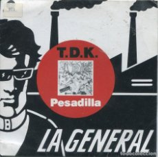 Discos de vinilo: TDK / PESADILLA / MAGUU X HEIKE (SINGLE 1988). Lote 165765598