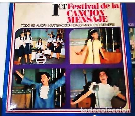 Discos de vinilo: 3 SINGLES CON EL 1º Y 2º FESTIVAL DE LA CANCIÓN MENSAJE DE COLEGIOS DE Mª AUXILIADORA - Foto 2 - 165770850