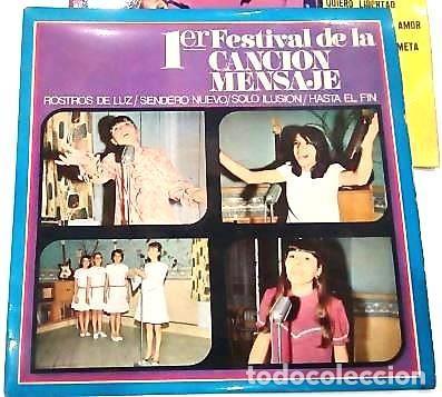 Discos de vinilo: 3 SINGLES CON EL 1º Y 2º FESTIVAL DE LA CANCIÓN MENSAJE DE COLEGIOS DE Mª AUXILIADORA - Foto 4 - 165770850