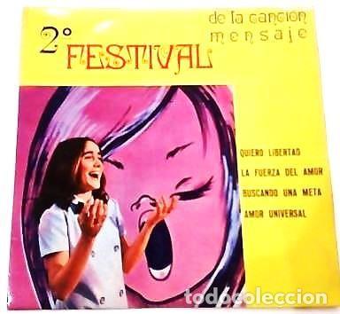 Discos de vinilo: 3 SINGLES CON EL 1º Y 2º FESTIVAL DE LA CANCIÓN MENSAJE DE COLEGIOS DE Mª AUXILIADORA - Foto 6 - 165770850