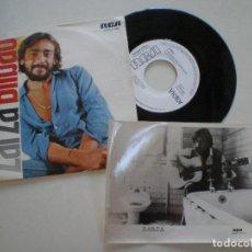 Discos de vinilo: ZARZA - BILBAO- SINGLE PROMOCIONAL CON FOTOGRAFIA RCA 1976 . Lote 165771222
