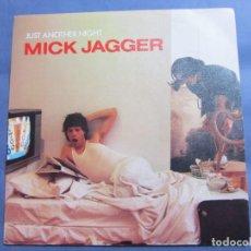Discos de vinilo: MICK JAGGER- SINGLE DE VINILO - TITULO JUST ANOTHER NIGHT- CON DOS TEMAS - ORIGINAL DEL 85- NUEVO. Lote 165782586