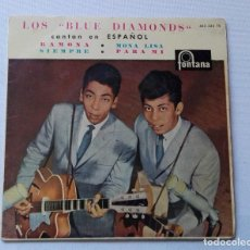 Discos de vinilo: DISCO DE LOS BLUE DIAMONDS - RAMONA -MONA LISA -SIEMPRE - PARA MI .. Lote 165794758