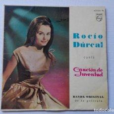 Discos de vinilo: DISCO DE ROCIO DURCAL. CANCIÓN DE JUVENTUD.BANDA ORIGINAL DE LA PELÍCULA.. Lote 165795234