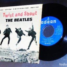 Discos de vinilo: THE BEATLES ---TWIST AND SHOUT + 3----ORIGINAL 1ª EDICION 1963 --LABEL AZUL FUERTE. Lote 165829374