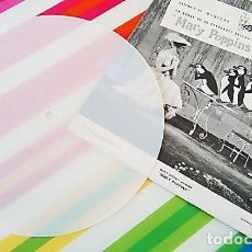 Discos de vinilo: SINGLE DE PLÁSTICO BLANCO DE MARY POPPINS. AÑO 1966. Lote 165835270