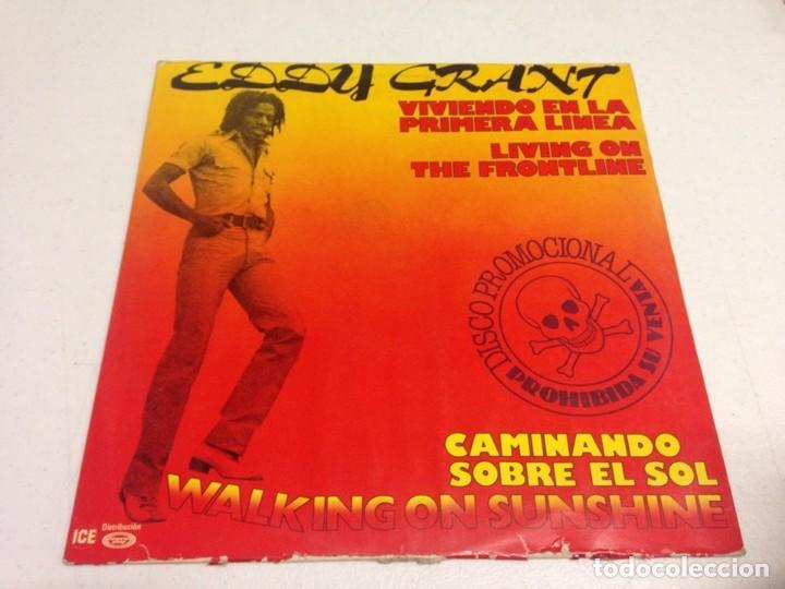 EDDY GRANT – WALKING ON SUNSHINE / LIVING ON THE FRONT LINE (Música - Discos de Vinilo - Maxi Singles - Reggae - Ska)