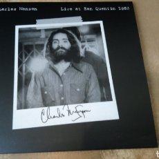 Discos de vinilo: CHARLES MANSON LIVE AT SAN QUENTIN 1983 - LP VINILO NUEVO. Lote 165845925