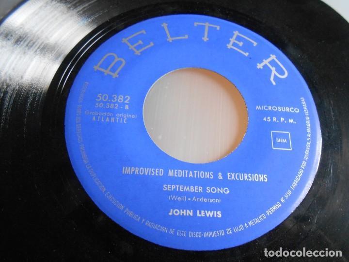 Discos de vinilo: JOHN LEWIS - IMPROVISED MEDITATIONS & EXCURSIONS -, EP, LOVE ME + 1, AÑO 1960 - Foto 4 - 165859210