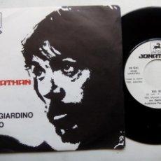 Discos de vinilo: JONATHAN. NEL GIARDINO DI DIO. SINGLE APRIL APNP550. SWITZERLAND. SIG. ROSSI. ROCK PROGRESIVO ITALIA. Lote 165873102