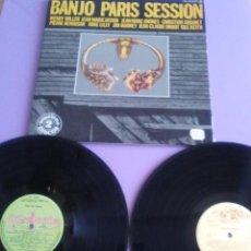 Discos de vinilo: GENIAL DOBLE LP. BANJO PARIS SESSION. SELLO: GUIMBARDA. DD-22009/1.INCLUYE FOLLETO.. Lote 165875290