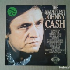 Discos de vinilo: JOHNNY CASH -THE MAGNIFICENT- LP HALLMARK SHM 777 MUY BUENAS CONDICIONES.. Lote 165894914