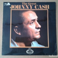 Discos de vinilo: JOHNNY CASH -THE GREAT- LP HALLMARK REEDICION INGLESA SHM 696 MUY BUENAS CONDICIONES.. Lote 165895254