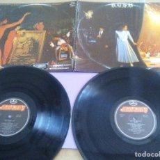 Discos de vinilo: RUSH / EXIT STAGE LEFT 1981 !! DOBLE LP, HEAVY PROG. PORTUGAL. MERCURY 6619 053.PORTADA ABIERTA.. Lote 165895866