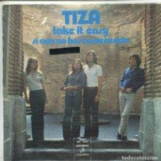 Disques de vinyle: TIZA / TAKE IT EASY / SI AUN NO HAS COMENZADO (SINGLE PROMO 1973). Lote 165946234