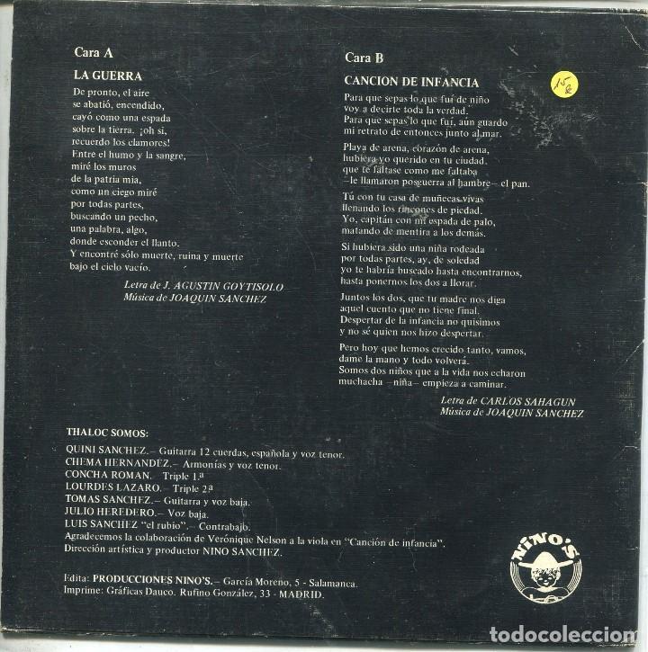 Discos de vinilo: TLALOC / LA GUERRA / CANCION DE INFANCIA (SINGLE 1977) - Foto 2 - 165946902