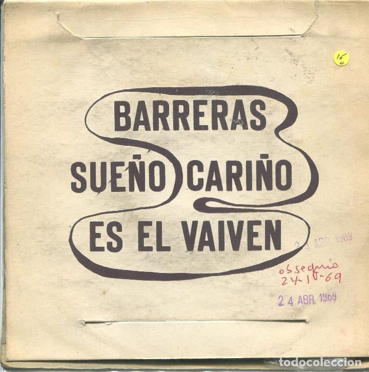 Discos de vinilo: TONIO / BARRERAS Y MURALLAS / CARIÑO + 2 (EP 1969) - Foto 2 - 165948254