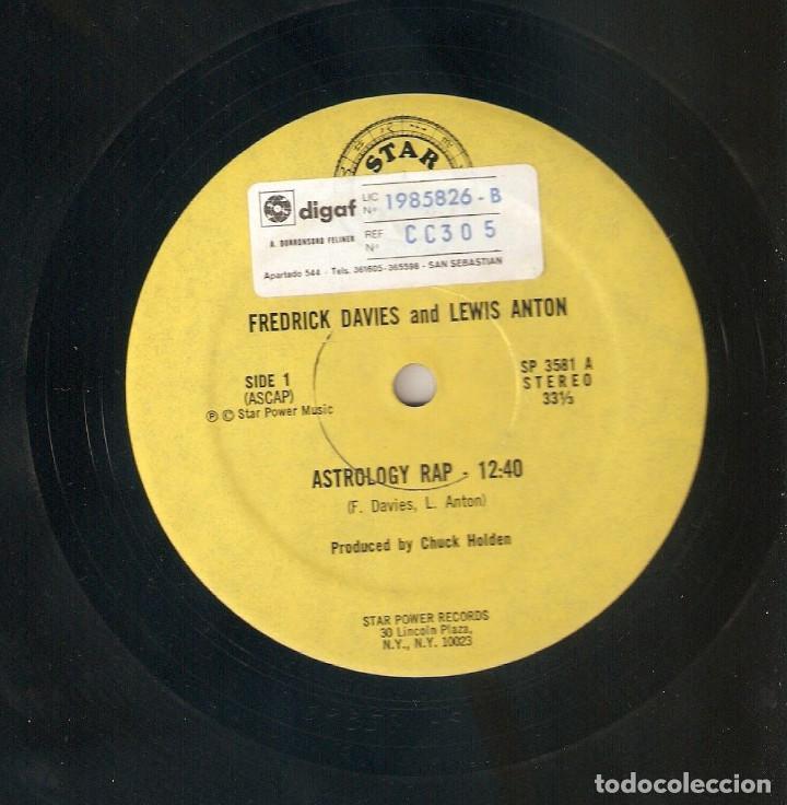 FREDRICK DAVIES & LEWIS ANTON 12 USA MAXI 1980 ASTROLOGY RAP HIP HOP FUNK DISCO IMPORTACIÓN RARO !!! (Música - Discos de Vinilo - Maxi Singles - Rap / Hip Hop)
