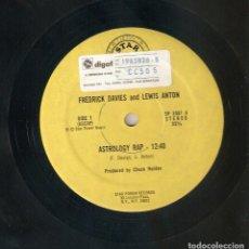 Discos de vinilo: FREDRICK DAVIES & LEWIS ANTON 12 USA MAXI 1980 ASTROLOGY RAP HIP HOP FUNK DISCO IMPORTACIÓN RARO !!!. Lote 165953894