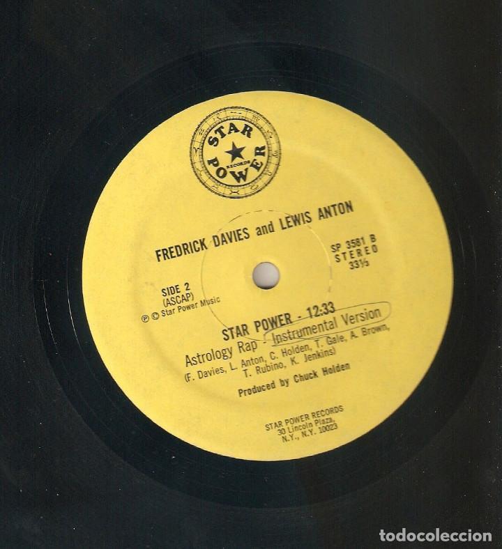 Discos de vinilo: FREDRICK DAVIES & LEWIS ANTON 12 USA MAXI 1980 ASTROLOGY RAP HIP HOP FUNK DISCO Importación Raro !!! - Foto 2 - 165953894
