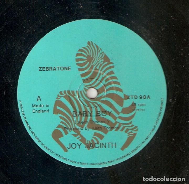 JOY JACINTH 12 UK MAXI 45 RPM BABY BOY ZEBRATONE 1984 PRIVATE FUNK SOUL BOOGIE MUY BUEN ESTADO RARO (Música - Discos de Vinilo - Maxi Singles - Funk, Soul y Black Music)