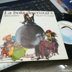 Discos de vinilo: LA BOLA DE CRISTAL SINGLE ABRACADABRA ALASKA 1985. Lote 165967988