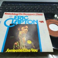Discos de vinilo: ERIC CLAPTON SINGLE KNOCKING ON HEAVEN'S DOOR ESPAÑA 1975. Lote 165970160